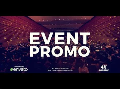 Event Promo Template Free After Effects Template Event Promo Youtube