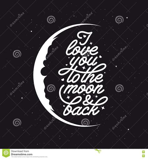 Handmade Typography - i you to the moon and back handmade