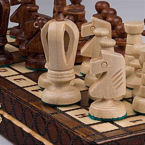 Handmade Wooden Chess Pieces - chess set royal 30 european wooden handmade