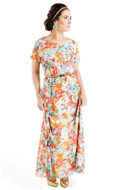 Modest Maxi Dresses by Modest Floor Length Maxi Dress W Sleeves In Floral
