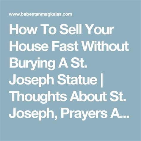 st joseph prayer to buy a house best 20 how to pray effectively ideas on pinterest