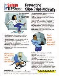 Safety tips to prevent slips trips and falls more