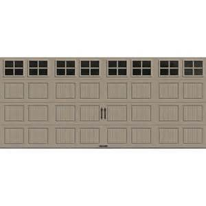 garage door home depot clopay gallery collection 16 ft x 7 ft 6 5 r value