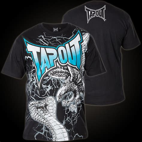 Tap Out Darkside Shirt Black tapout t shirt cobra t shirt with a large highly