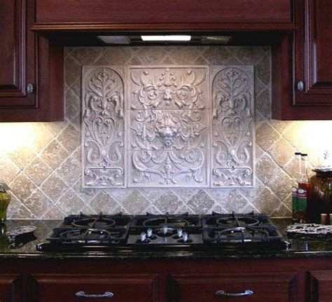 decorative kitchen backsplash handmade lion panel and bouquet tiles decorative