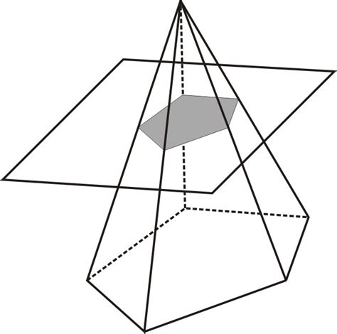 cross section of a triangular pyramid representing solids ck 12 foundation