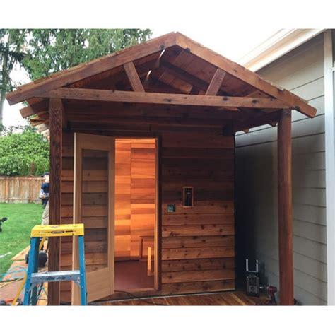 backyard sauna kit 5 x7 outdoor sauna kit heater accessories porch roof