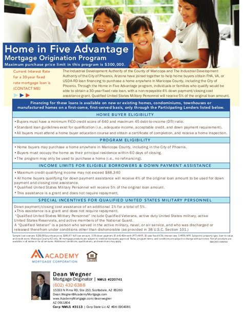 home in 5 payment program fha