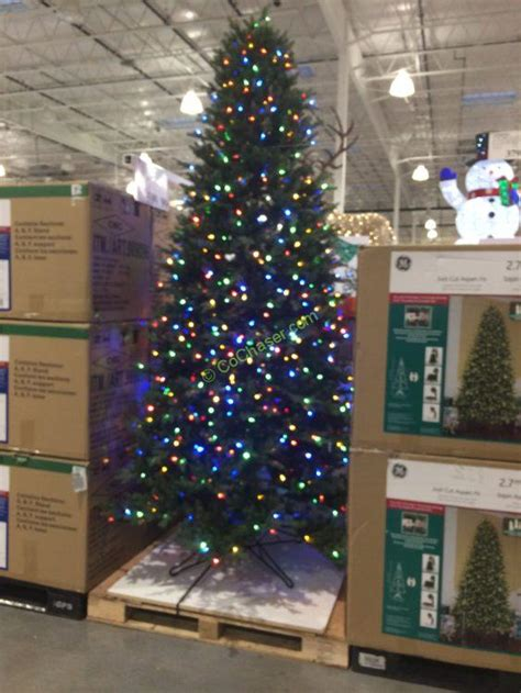 9 ft costco christmas tree ge 9 ft pre lit led easy light technology dual color tree costcochaser