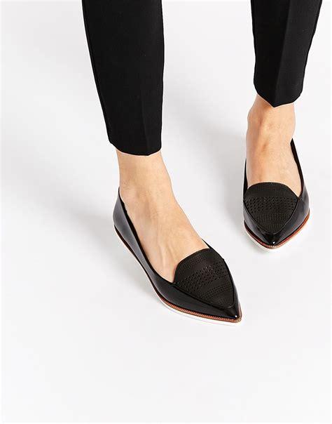 flats black shoes image 1 of aldo hankes black contrast sole flat shoes