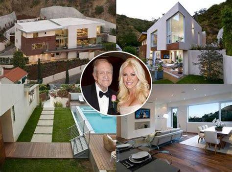 hugh hefner house hugh hefner and crystal harris buy 4 9 million hollywood home e news