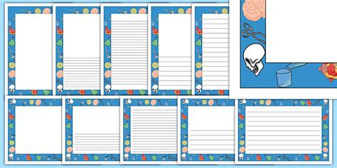 lined paper with science border science page borders science page border borders writing