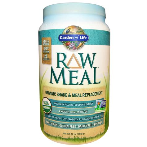 Garden Of Meal Replacement Ingredients Garden Of Organic Meal Organic Shake Meal