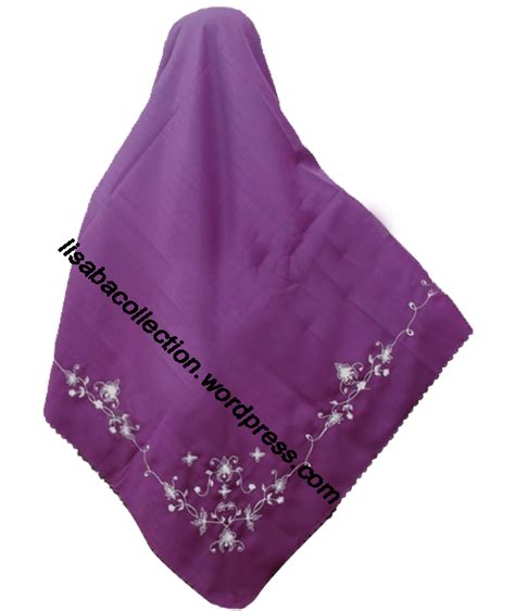 Gamis Syar I Ns 15 Hijau Muda azzuracollection jilbab segi 4 ungu tua bordir