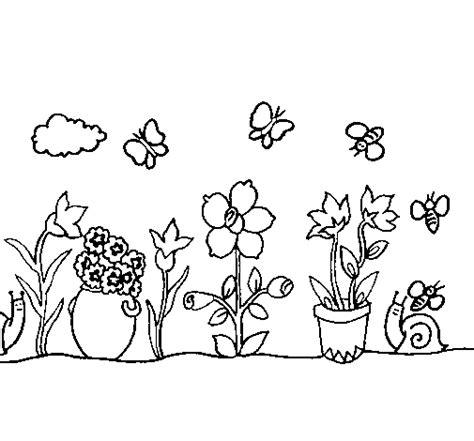 disegno giardino disegno di giardino da colorare acolore
