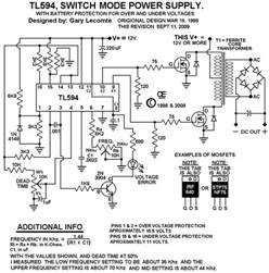 tl594 12v dc switch mode power supply rise circuit diagrams free