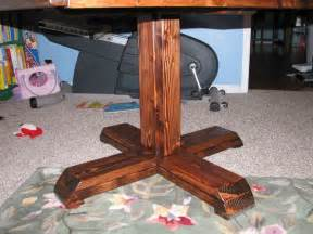 How To Make A Pedestal Table white square pedestal table diy projects