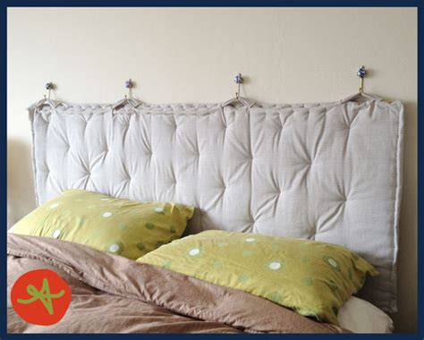 diy pillow headboard pinterest project padded headboard fruit punchington