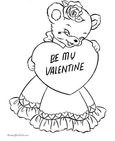 coloring pages free valentines day day coloring pages 002