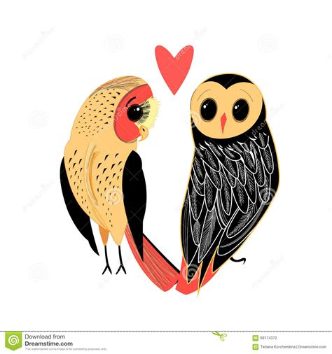 Owl Lovers by Lovers Funny Owl Stock Vector Image 68174370