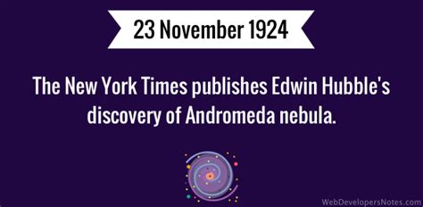 the new york times publishes the new york times publishes edwin hubble s discovery of