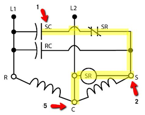 compressor potential relay wiring diagram wiring diagrams
