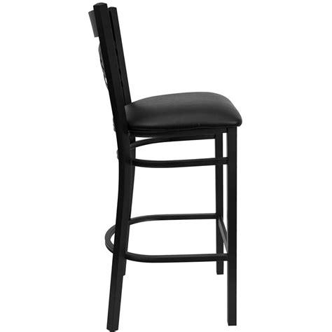restaurant metal bar stools hercules black quot x quot back metal restaurant bar stool with