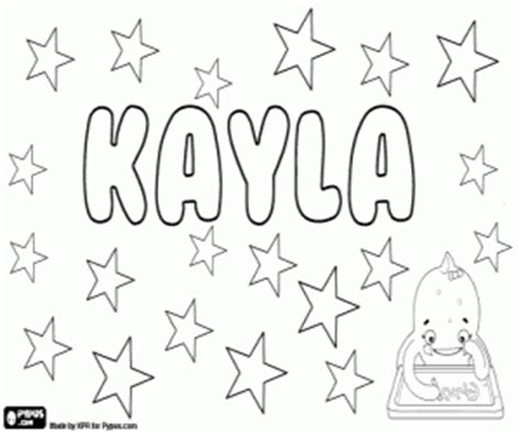 coloring pages of the name kayla kayla name of gaelic origin variant of names such as