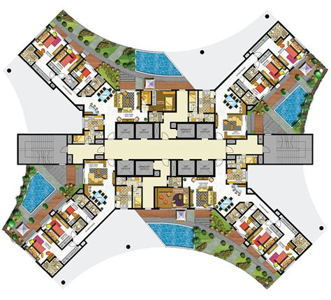 layout of lobby in hotel indiabulls sky floor plans mumbai india architecture