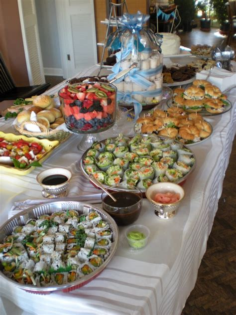 Shower Foods by Inspiration And Drafts Baby Shower Celebrating The