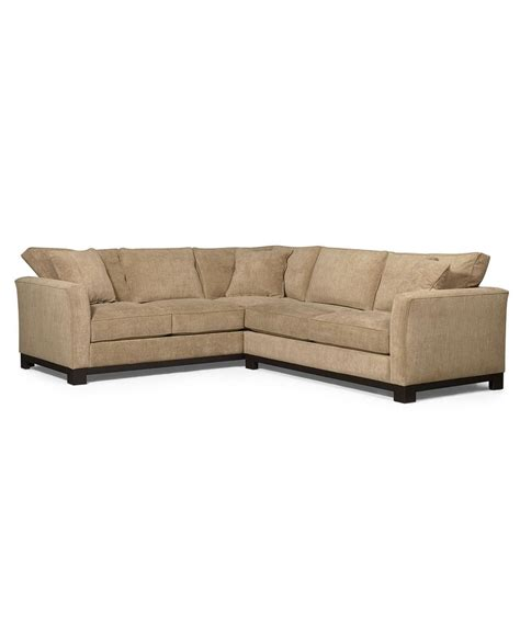 kenton fabric sectional sofa 2 107 quot w x 94 quot d x 33 quot h