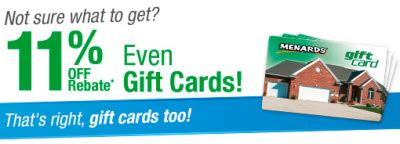 Where Can I Get Menards Gift Cards - menards rebate deals 1 12 1 18 14 11 off everything including gift cards with