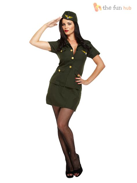 woman soldier costume ladies sexy army fancy dress costume soldier camo women