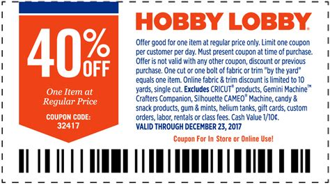 the home decorating company coupon hobby lobby odessa