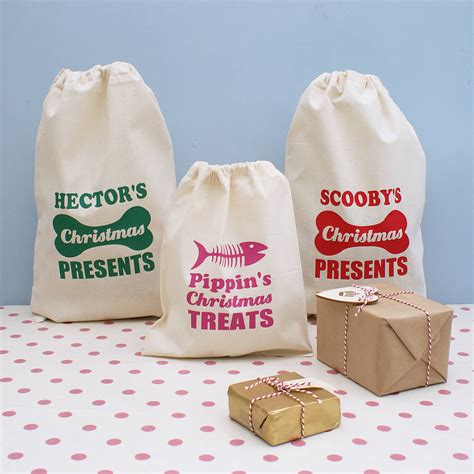 personalised pet christmas gift sack by sparks clothing