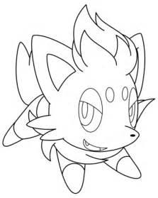 pokemon coloring pages zorua zorua pokemon coloring page free printable coloring pages