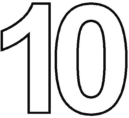coloring pages of the number 10 number 10 with words colouring pages