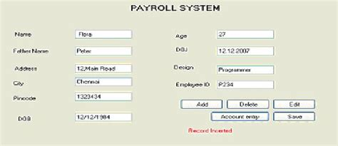 payroll database design design and implementation of payroll processing system in