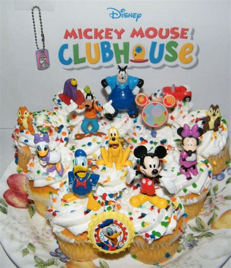 disney mickey mouse clubhouse cake toppers set   figures ring  keychain ebay