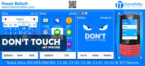 themes nokia c2 don don t touch my phone theme for nokia asha 202 203 300