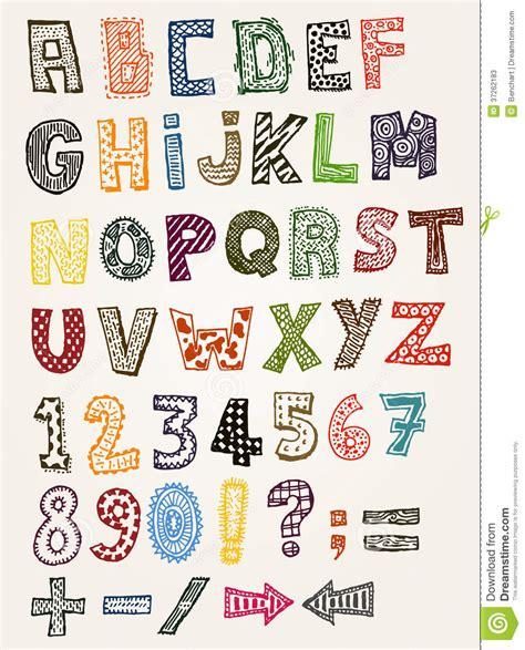 doodle kid free font doodle fancy abc alphabet stock photos image 37262183