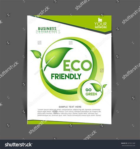 environment design guide journal vector eco flyer poster brochure magazine stock vector