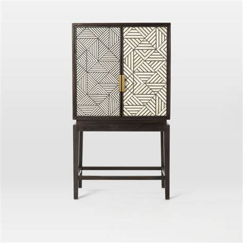Kitchen Cabinet Frame black and white inlaid drinks cabinet mad about the house