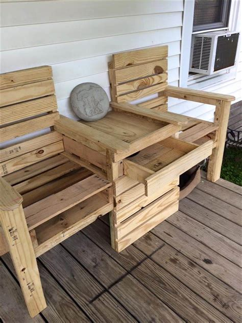 pallet bench for sale diy pallet double chair bench 99 pallets