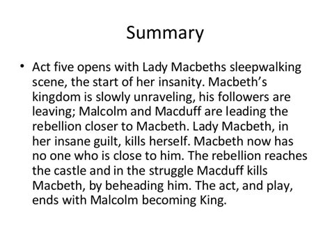 themes in macbeth act 2 act 5 of macbeth