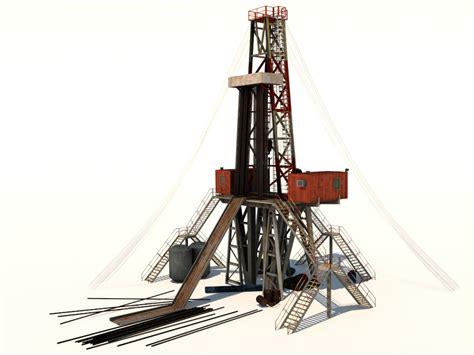 drilling rig image land rig site 1 3d animation oil land drill rig 3d model realtime 3d models world