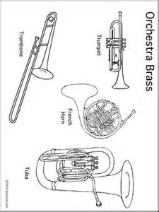instrument families coloring coloring pages