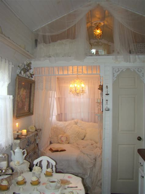 shabby chic tiny retreat white lace cottage