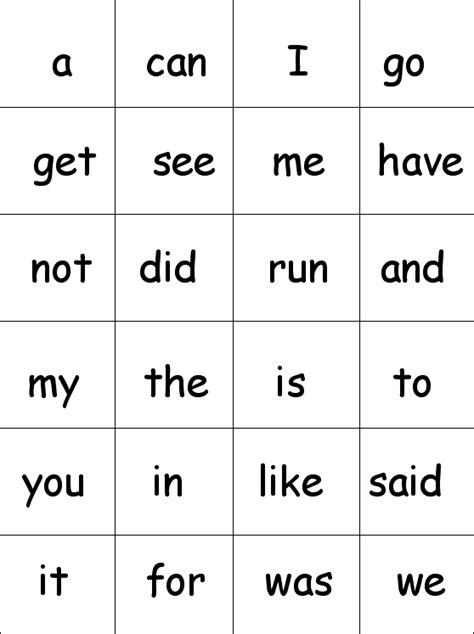 printable flash cards sight words for kindergarten 8 best images of sight words flash cards printables