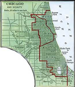 map of usa showing chicago chicago and vicinity